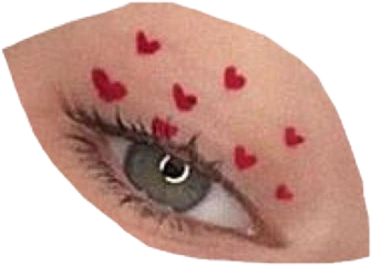eye aesthetic hearts freetoedit