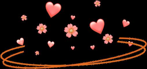 freetoedit orange crown ring heart