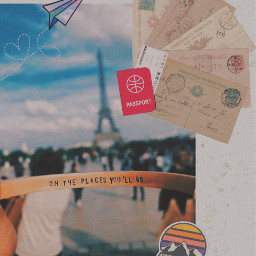 freetoedit paris travel passport ticket