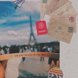 freetoedit paris travel passport ticket