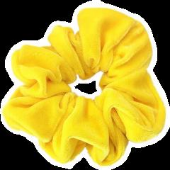 yellow scrunchie yellowscrunchie vsco freetoedit