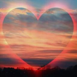freetoedit background sky heart