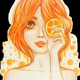 freetoedit scorange orange girl orangehair