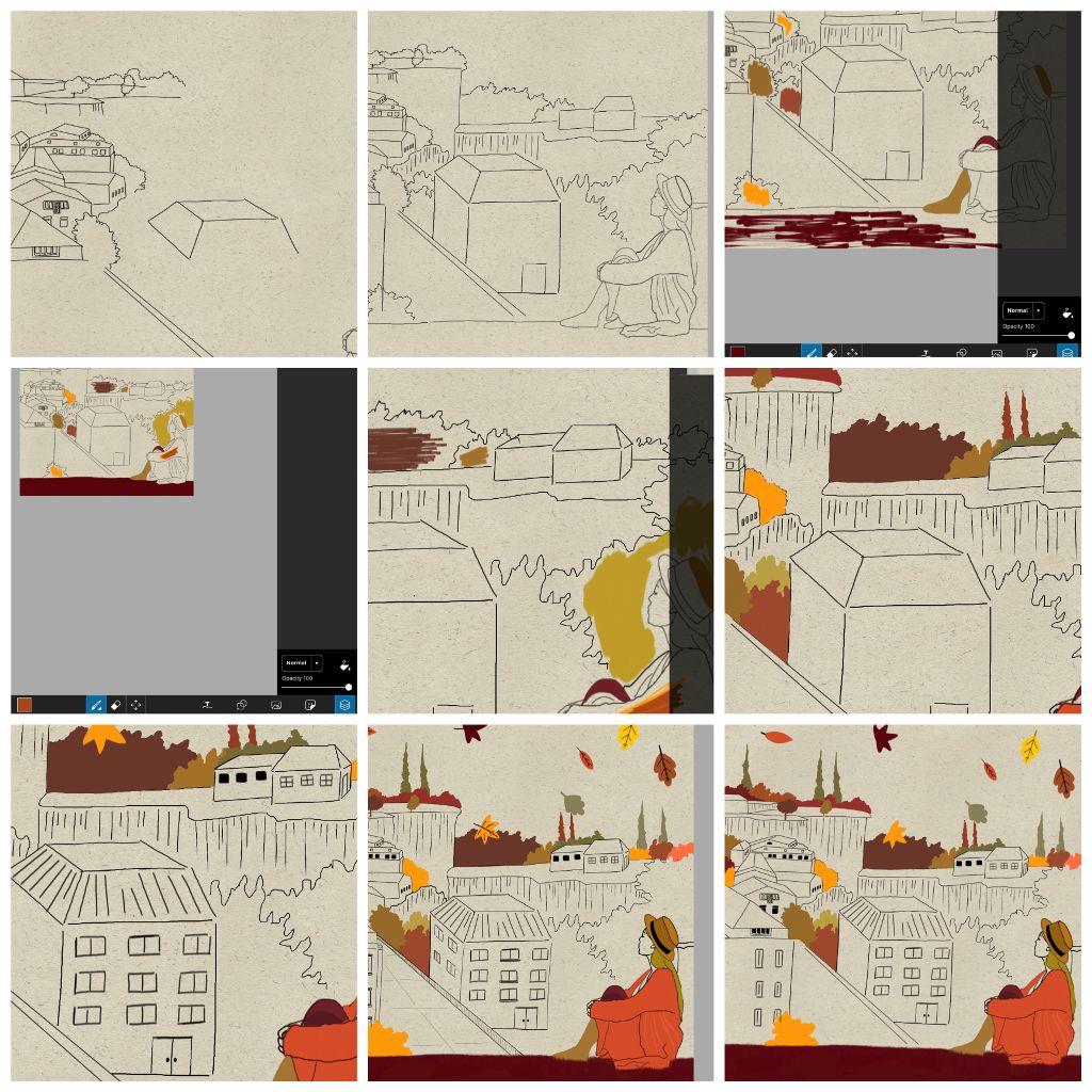 #autumn#fall#myentry#stepbystep#drawing#sketch #freetoedit