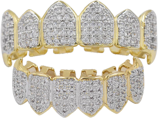 diamond gold grills teeth freetoedit