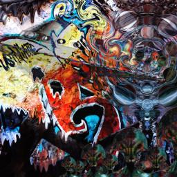 freetoedit alien ufo graffiti trippy