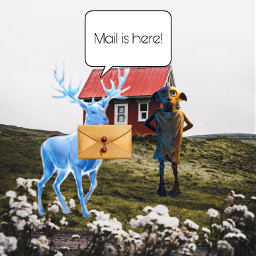 freetoedit mail postman patronus harrypotter