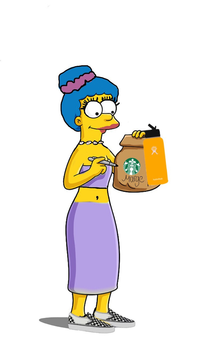 #freetoedit #marge #thesimpsons #simpsons #margesimpson #vsco #vscogirl #hydroflask #scrunchie