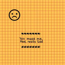 freetoedit youmakemefeelreallysad sad yellow squares