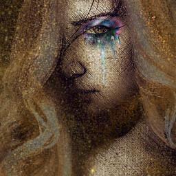 freetoedit woman potrait artisticedit eyeshadow