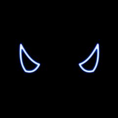 freetoedit devil hat horns blue