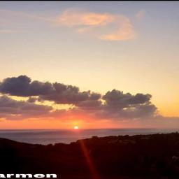 tramonto mare nuvole panorama no freetoedit