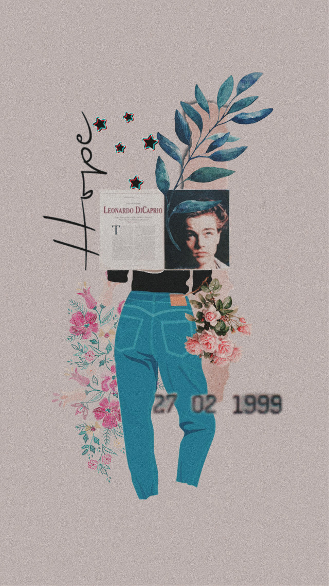 #freetoedit #wallpaper #vintage #leonardodicaprio #magazine #flowers #jeans #denim #hope