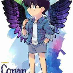 freetoedit conanedogawa angelwings angel😇 angelcrown