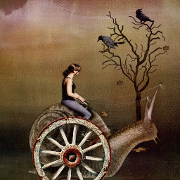 freetoedit chariot snail myedit surrealart