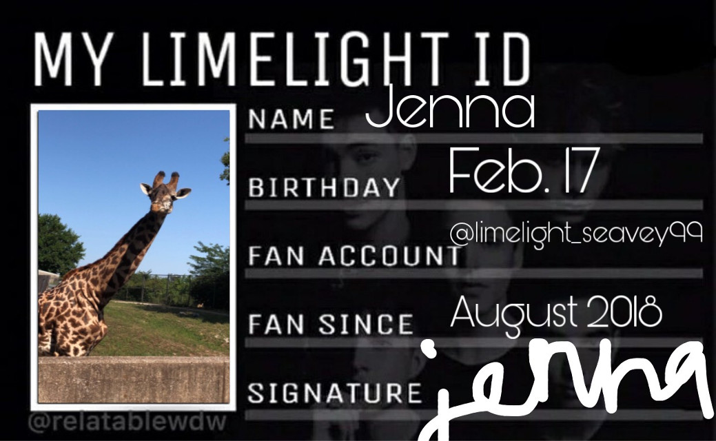 my limelight ID... my signature is really sloppy here but it usually looks better... #freetoedit