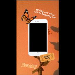 freetoedit orange funimate funimatesticker iphone