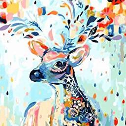 deergirl deer deerhead flowers colorful