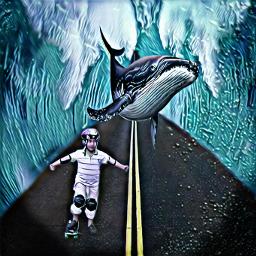 fantasy oceano skate vias ballena