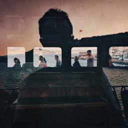 reflection ferry summertime