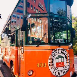 boston trolley orange cool mypic freetoedit