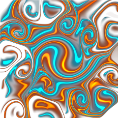procreate orange teal turquoise glow freetoedit scneons neons