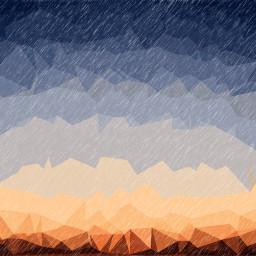 sunset picsart polygonart rain mask
