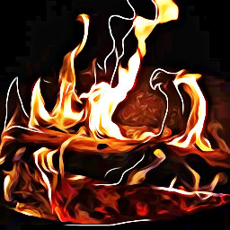 dancing flamesofire sketchereffect oileffect calm