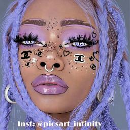 drawing draw art purple girl freetoedit