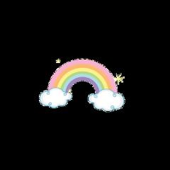 tinymojis cute rainbow clouds soft freetoedit
