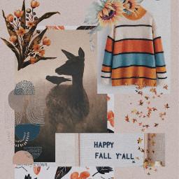 freetoedit fall september sweater flowers