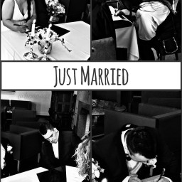 justmarried love happines wedding party
