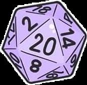 dice nerd game pastel purple freetoedit