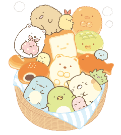 sumikkogurashi sumikko bakery friends bread freetoedit