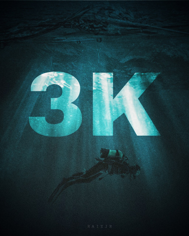 3K Followers! 🎉 Infinite thanks to all of you. 🖤  VISITOR  #picsart #madewithpicsart #edit #editing #photoediting #photooftheday #art #visual #surreal #fantasy #nature #instagram #surrealart #visualart #digitalart #3000followers #3k #followers #underwater #sub