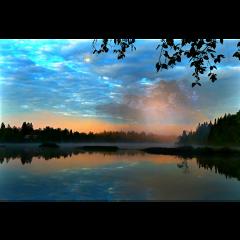 ftestickers landscape scenery lake trees freetoedit