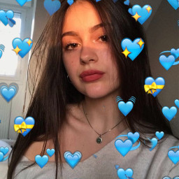 emoji bluehearts
