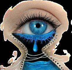 eyeart eye blueeye crying river freetoedit