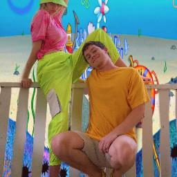spongebobsquarepants spongebobandpatrick bikinibottom art nickelodeon freetoedit