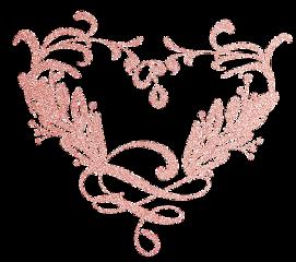 love heart flowers rosegold glitter freetoedit