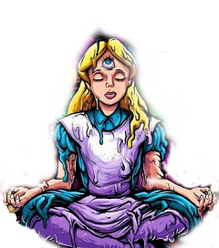 peace meditation psychedelic alice alicia freetoedit scpeacestickers