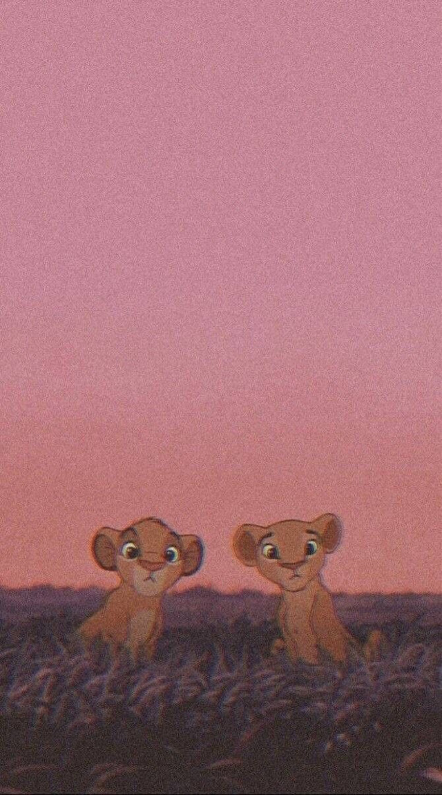 #wallpaper #simba #lion #lionking #pink #retro #art #babyyy