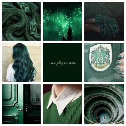 slytherin aesthetic green