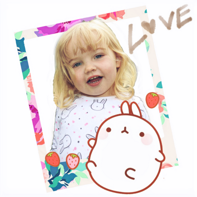 Just Scarlett in a Kwali frame #granddaughter #family #stickers #freetoedit