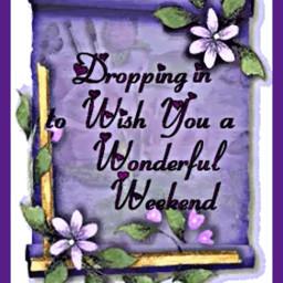 freetoedit purple flowers wonderful weekend