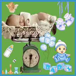 freetoedit baby scale collage babyitems