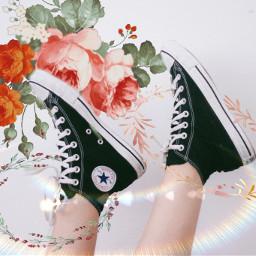 freetoedit flower shoes