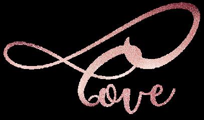 love heart rosegold glitter handwriting freetoedit