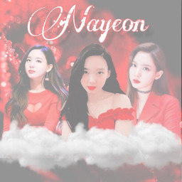 nayeon twice happynayeonday kpopwallpaper red freetoedit