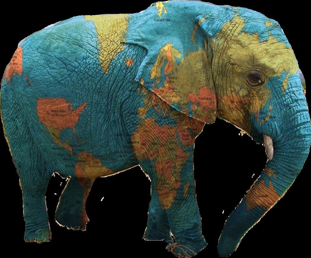 #freetoedit #elephant #globe